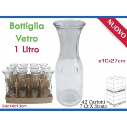 BOTTIGLIA CARAFFA VETRO 1000ML.