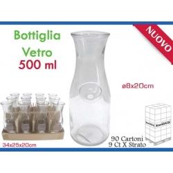 BOTTIGLIA CARAFFA VETRO 500 ML.
